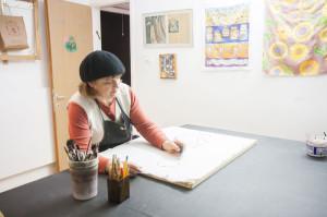 Carol in her Studio